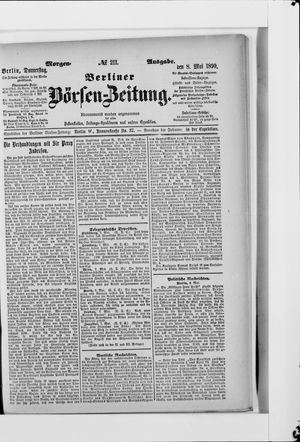 Berliner Börsen-Zeitung vom 08.05.1890