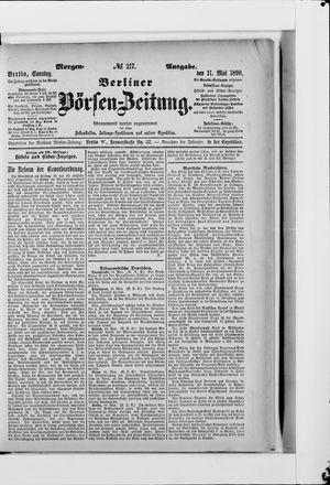 Berliner Börsen-Zeitung vom 11.05.1890