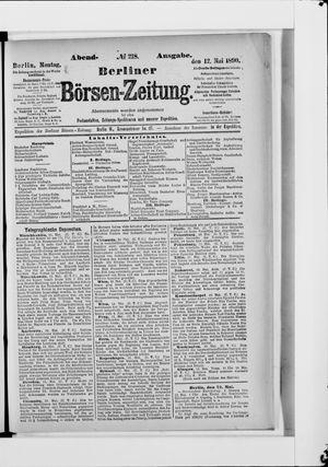 Berliner Börsen-Zeitung vom 12.05.1890