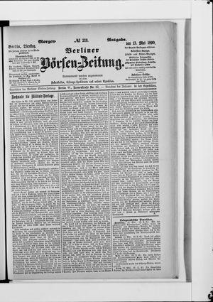 Berliner Börsen-Zeitung vom 13.05.1890
