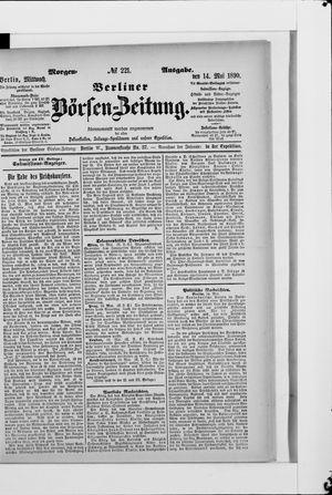 Berliner Börsen-Zeitung vom 14.05.1890