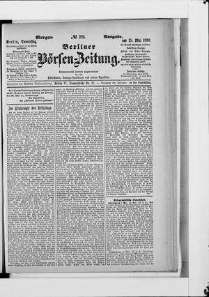 Berliner Börsen-Zeitung vom 15.05.1890