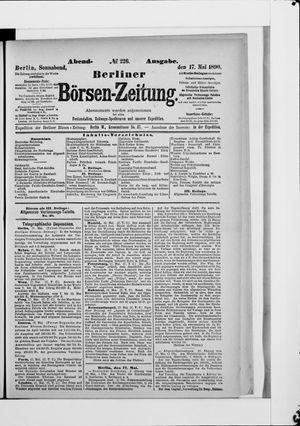 Berliner Börsen-Zeitung vom 17.05.1890