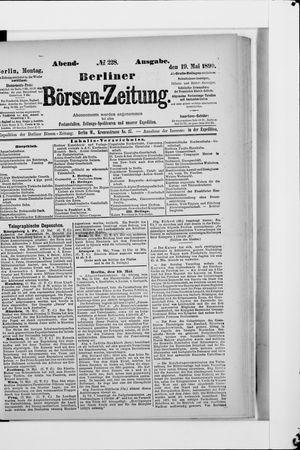 Berliner Börsen-Zeitung vom 19.05.1890