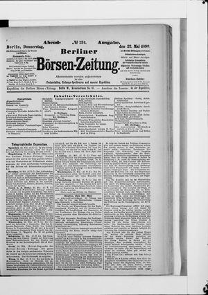 Berliner Börsen-Zeitung vom 22.05.1890