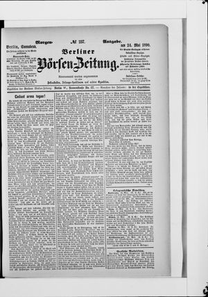 Berliner Börsen-Zeitung vom 24.05.1890