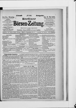 Berliner Börsen-Zeitung vom 27.05.1890