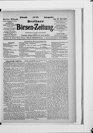 Berliner Börsen-Zeitung vom 28.05.1890