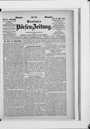 Berliner Börsen-Zeitung vom 29.05.1890