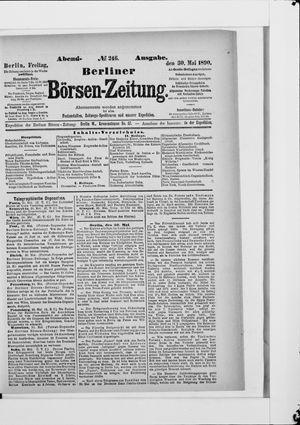 Berliner Börsen-Zeitung vom 30.05.1890
