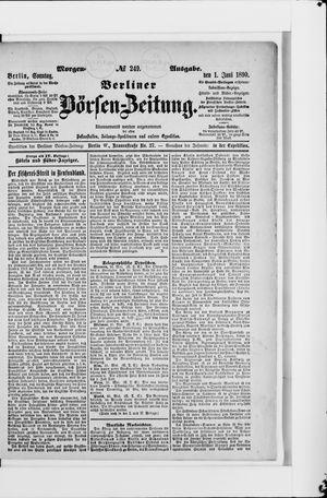 Berliner Börsen-Zeitung vom 01.06.1890