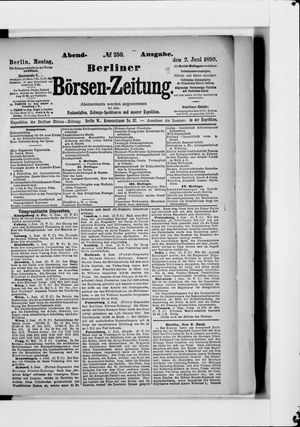 Berliner Börsen-Zeitung vom 02.06.1890