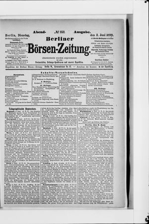 Berliner Börsen-Zeitung vom 03.06.1890