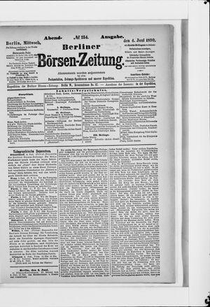 Berliner Börsen-Zeitung vom 04.06.1890