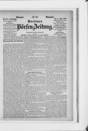 Berliner Börsen-Zeitung vom 05.06.1890