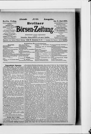 Berliner Börsen-Zeitung vom 06.06.1890