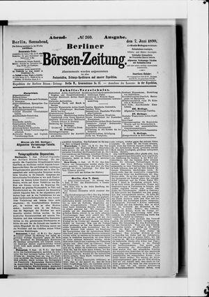 Berliner Börsen-Zeitung vom 07.06.1890