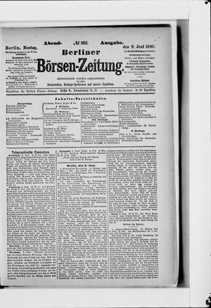 Berliner Börsen-Zeitung vom 09.06.1890