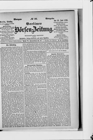Berliner Börsen-Zeitung vom 10.06.1890