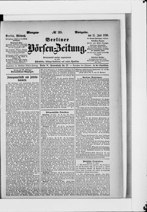 Berliner Börsen-Zeitung vom 11.06.1890