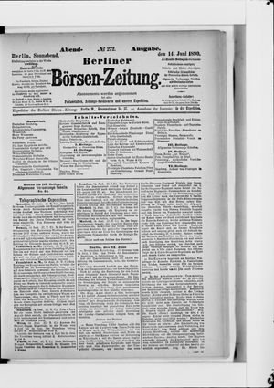 Berliner Börsen-Zeitung vom 14.06.1890