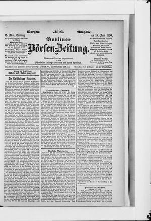 Berliner Börsen-Zeitung vom 15.06.1890