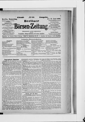 Berliner Börsen-Zeitung vom 19.06.1890