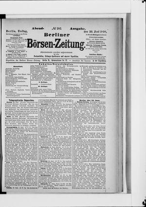 Berliner Börsen-Zeitung vom 20.06.1890