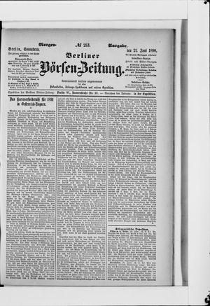Berliner Börsen-Zeitung vom 21.06.1890