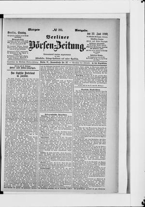 Berliner Börsen-Zeitung vom 22.06.1890