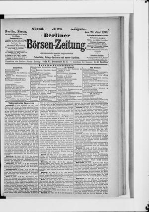 Berliner Börsen-Zeitung vom 23.06.1890