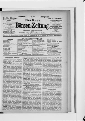 Berliner Börsen-Zeitung vom 24.06.1890