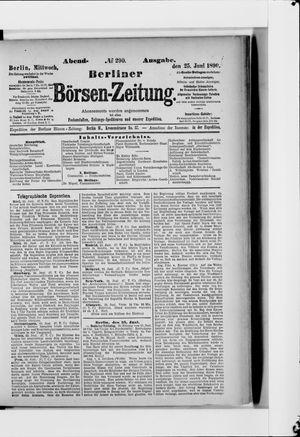 Berliner Börsen-Zeitung vom 25.06.1890