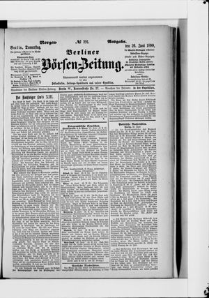 Berliner Börsen-Zeitung vom 26.06.1890