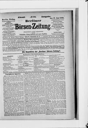 Berliner Börsen-Zeitung vom 27.06.1890