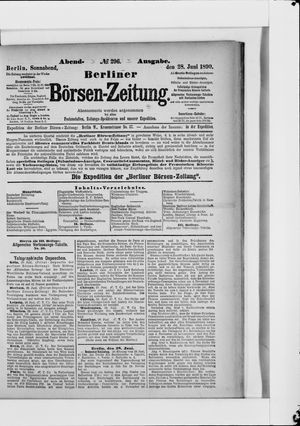Berliner Börsen-Zeitung vom 28.06.1890