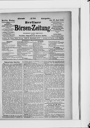 Berliner Börsen-Zeitung vom 30.06.1890
