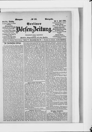 Berliner Börsen-Zeitung vom 01.07.1890