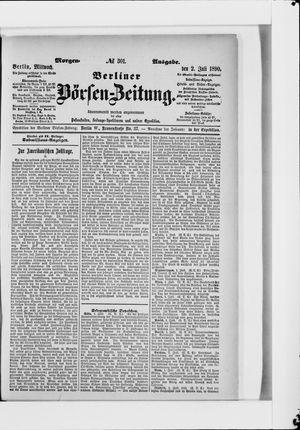 Berliner Börsen-Zeitung vom 02.07.1890