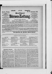 Berliner Börsenzeitung (22.09.1890)