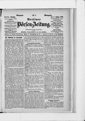 Berliner Börsen-Zeitung vom 04.01.1891