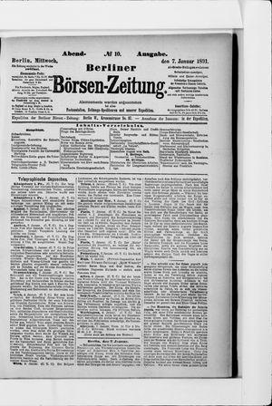 Berliner Börsen-Zeitung vom 07.01.1891