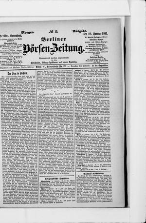 Berliner Börsen-Zeitung vom 10.01.1891
