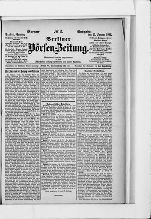Berliner Börsen-Zeitung vom 11.01.1891