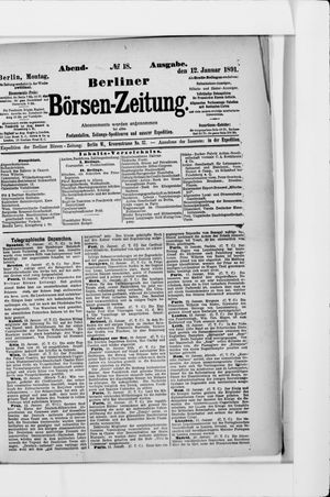 Berliner Börsen-Zeitung vom 12.01.1891