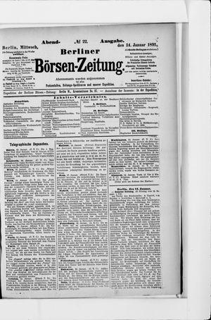 Berliner Börsen-Zeitung vom 14.01.1891