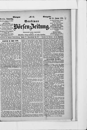 Berliner Börsen-Zeitung vom 15.01.1891