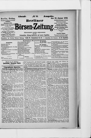 Berliner Börsen-Zeitung vom 16.01.1891