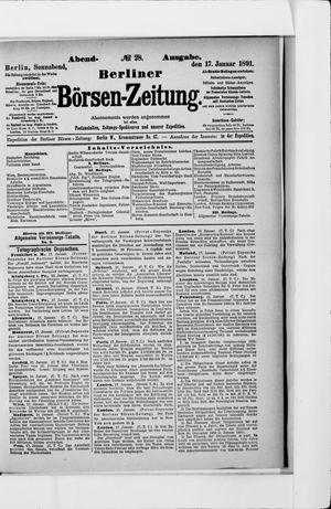 Berliner Börsen-Zeitung vom 17.01.1891