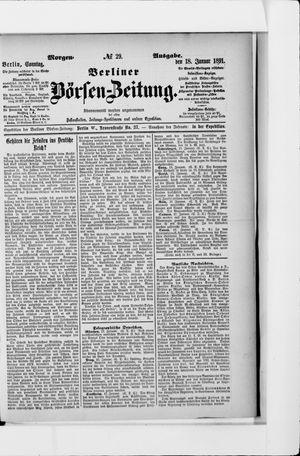 Berliner Börsen-Zeitung vom 18.01.1891